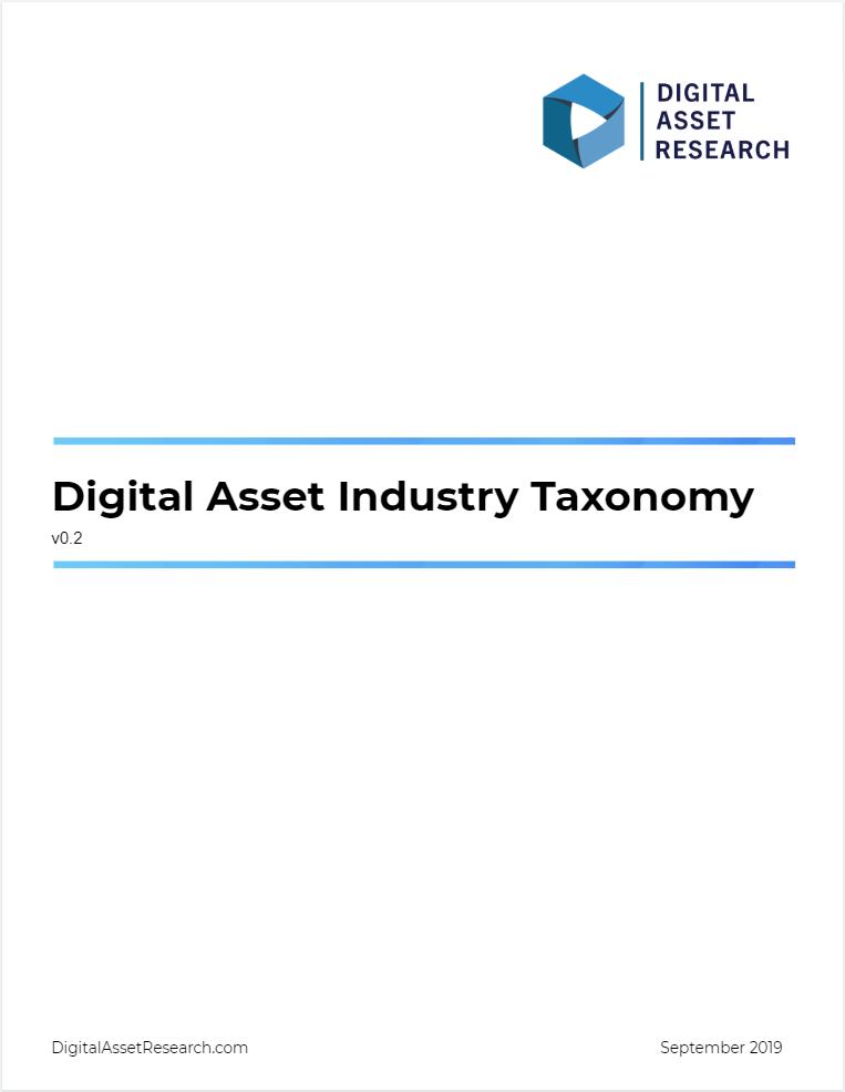 DAR Digital Asset Industry Taxonomy Methodology