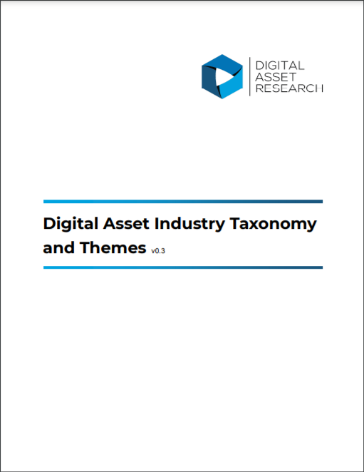 Digital Asset Industry Taxonomy and Themes v0.3